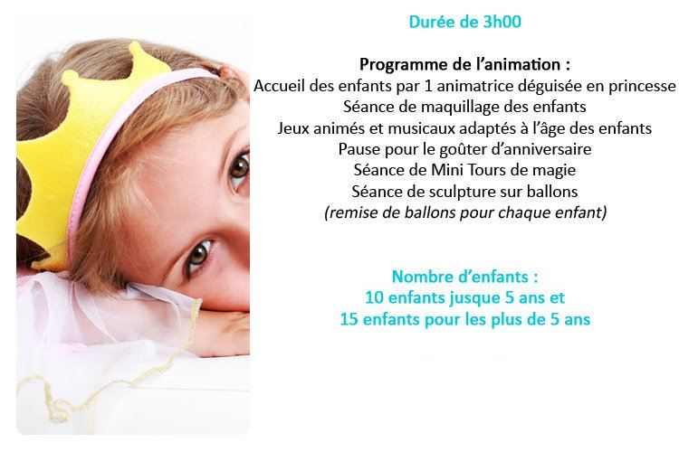 Animation Danniversaire Pour Enfants 3 6 Ans à Domicile Paris